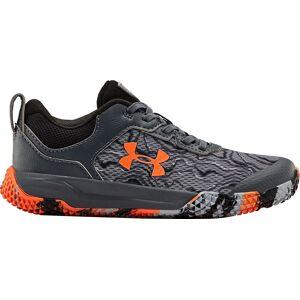 Under Armour Kids' Preschool Mainshock 2 Running Shoes, Boys', Gray/Orange