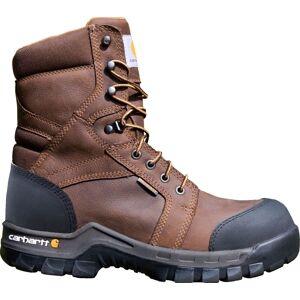 "Carhartt Men's Rugged Flex 8"" Composite Toe Waterproof Work Boots, 10.0MEDIUM, Brown - Brown - Size: 10.0MEDIUM"