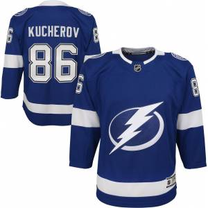 NHL Youth Tampa Bay Lightning Nikita Kucherov #86 Premier Home Jersey, Kids, Small/Medium