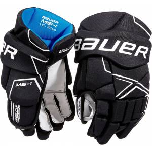 Bauer Senior MS1 Ice Hockey Gloves, Size 15, Black