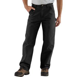 Carhartt Men's Washed Duck Work Dungarees (Regular and Big & Tall), 36 Waist 30 Length, Black - Black - Size: 36 Waist 30 Length