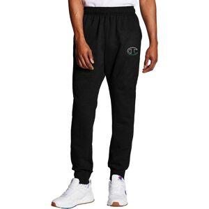 Champion Men's Powerblend Fleece C Logo Joggers, Medium, Black - Black - Size: M