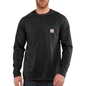 Carhartt Men's Force Cotton Delmont Long Sleeve T-Shirt, Medium, Black - Black - Size: M