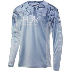 HUK Men's Icon X Camo Fade Performance Fishing Long Sleeve Shirt (Regular and Big & Tall), XL, Erie - Erie - Size: XL