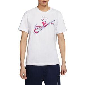 Nike Men's Sportswear Exploded Swoosh Graphic T-Shirt, Medium, White