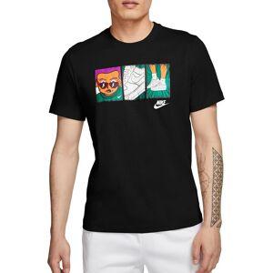 Nike Men's Sportswear Sweatin' The Sneakers Graphic T-Shirt, Medium, Black