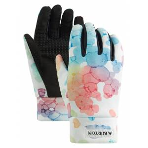 Burton Youth Touch N' Go Liner Gloves, Kids, Large, Dsg Bubbles
