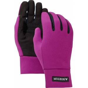 Burton Youth Touch N' Go Liner Gloves, Kids, XS, Grapeseed