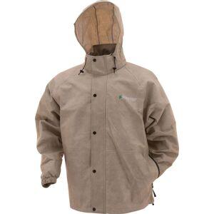 frogg toggs Men's Classic Pro Action Rain Jacket, Large, Khaki - Khaki - Size: L