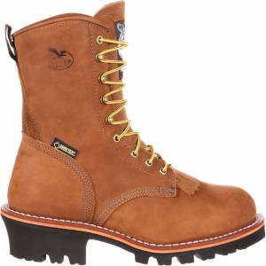 Georgia Boot Men's Logger 400g GORE-TEX Steel Toe Work Boots, Brown - Brown - Size: One Size