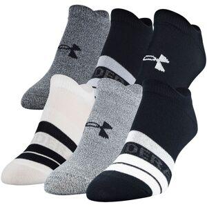 Under Armour Women's Essential 2.0 No Show Socks - 6 Pack, Medium, Black
