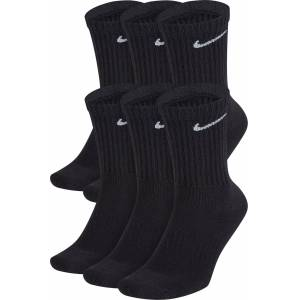 Nike Everyday Cushioned Training Crew Socks – 6 Pack, Men's, Medium, Black