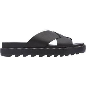 SOREL Women's Roaming Criss Cross Slide Sandals, Black
