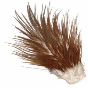 Umpqua Metz #2 Saddle Hackle Fly Tying Feathers, Brown Natural