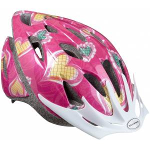 Schwinn Girl's Thrasher Hearts Bike Helmet, Girls', Pink