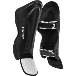 Century CREED Traditional Shin Instep Guards, L/XL, Black/White