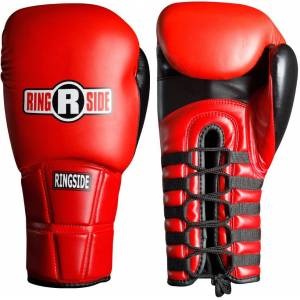 Ringside IMF Pro Fight Boxing Gloves, 12 oz., Red