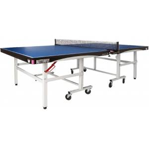 Butterfly Octet 25 Rollaway Indoor Table Tennis Table, Blue