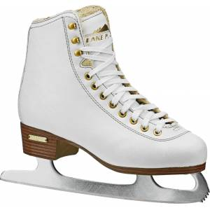 Alpine Lake Placid Women's Alpine 9000 Traditional Figure Skates, Size 6, White