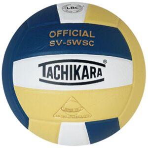 Tachikara SV-5WSC Indoor Volleyball, Navy/White/Vintage Gold