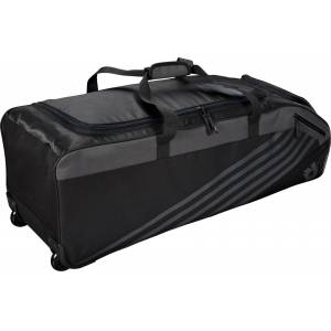 DeMarini Momentum 2.0 Wheeled Baseball Bag, Black