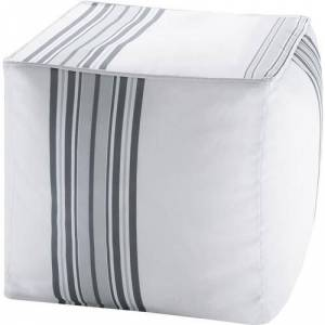 Madison Park Newport 3M Scotchgard Outdoor Pouf -Grey