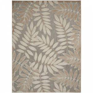 Nourison Palm Leaf Outdoor Area Rug -Beige