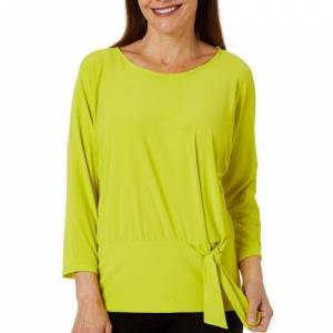Coco Bianco Petite Solid Side Tie Top
