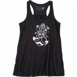 Secondary Sunshine State Womens Refuse To Sink Tank Top -Black/White