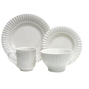 Thomson Pottery 16-pc. Maison White Dinnerware Set
