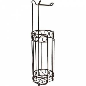Home Collections Bronze Toilet Tissue Roll Holder & Rack -