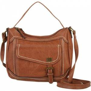 B.O.C. Amherst Contrast Stitched Crossbody Handbag -Brown