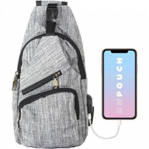 Nupouch Solid Anti-Theft Backpack -Grey