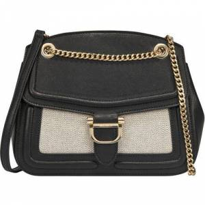 Nine West Harper Convertible Flap Crossbody Handbag -Black/Multi