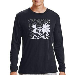 Under Armour Mens Long Sleeve Camo Box Logo T-Shirt -Black