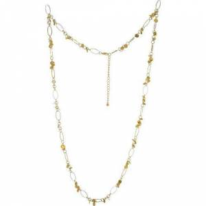 Bay Studio Long Shaky Disc Link Necklace -Yellow