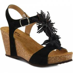 Spring Step Womens Izetta T-Strap Sandals -Black