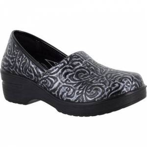 Easy Street Womens Laurie Work Clogs -Grey