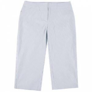 ATTYRE Plus Malia Pin Stripe Cropped Bengaline Trousers -Blue