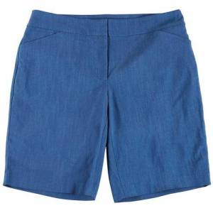 ATTYRE Plus Solid Bermuda Shorts -Blue