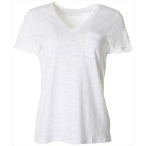 Dept 222 Petite Luxey V-Neck Chest Pocket T-Shirt -White