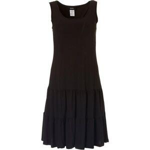 MSK Womens Solid Tiered Swing Dress -Black