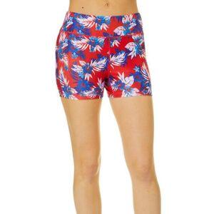 Reel Legends Juniors Beach Pro Americana Hibiscus Shorts -Multi/Red