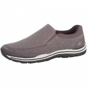 Skechers Mens Relaxed Fit Gomel Shoes -Grey