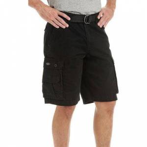 Lee Mens Solid Wyoming Cargo Shorts -Black