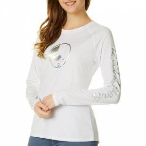 Reel Legends Juniors Keep It Cool Long Sleeve Top -White
