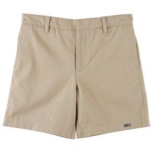School Colors Little Boys St. Martha Twill Uniform Shorts -Beige