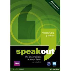 Speakout Pre-Intermediate Students book and by Antonia Clare