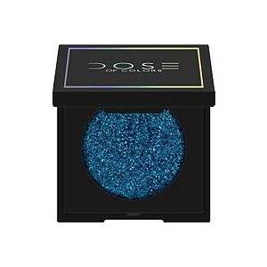Dose Of Colors Block Party Single Eyeshadow  - Teal Me More (charcoal base w/teal & bright blue reflects)