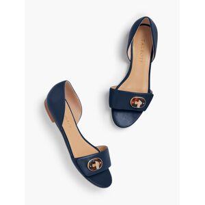 Talbots Leona D'Orsay Flats - Soft Nappa - Blue - 5-1/2M Talbots
